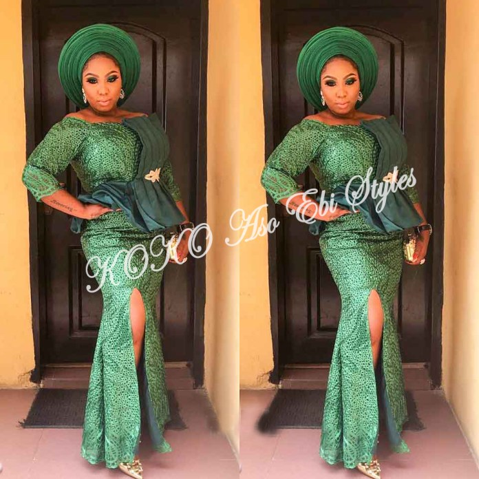 Bring On The Stunning In Lovely Green Aso-ebi Designs At Your Next Owanbe 14