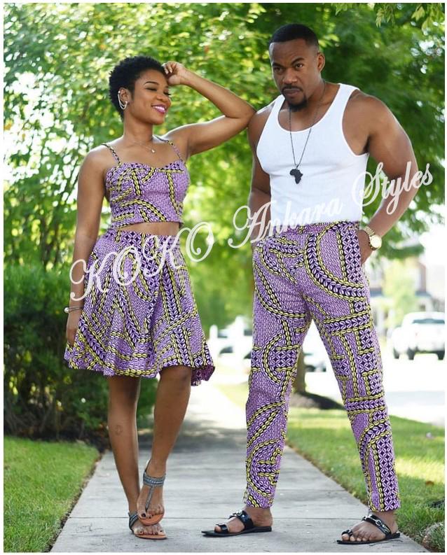 Stylishly Couple Up In 5 Co-ordinating Ankara Designs 5