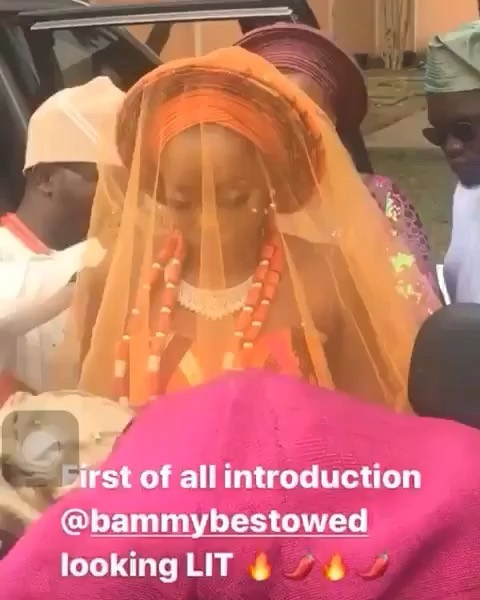 Cee-C Stuns In Gorgeous Pink Aso-ebi At BamBam And Teddy A's Introduction 1