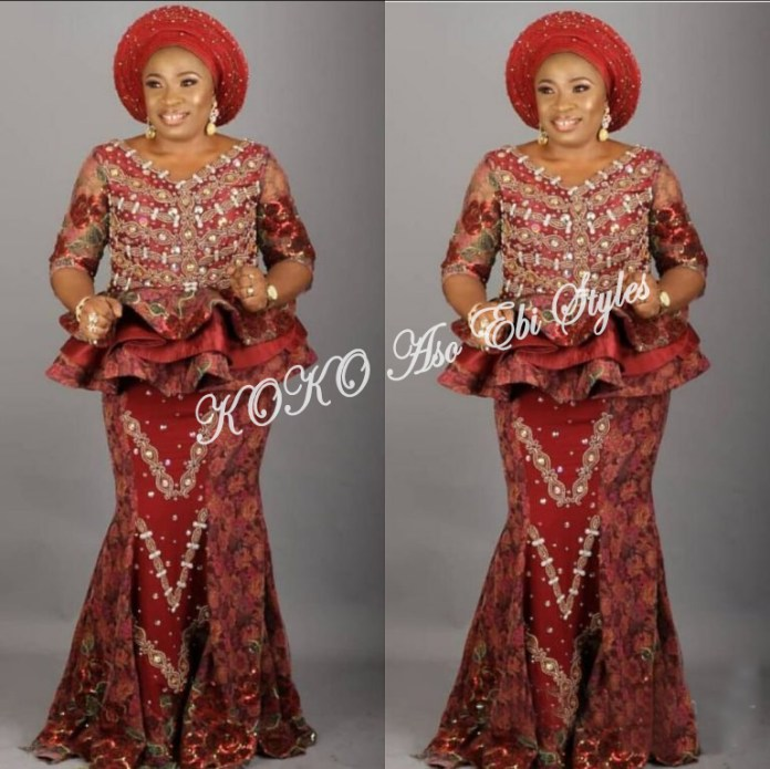 Illuminate The Day With These Adorable Peplum Aso Ebi Styles 1