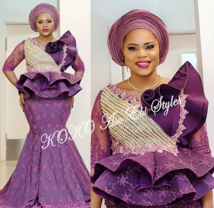 Illuminate The Day With These Adorable Peplum Aso Ebi Styles