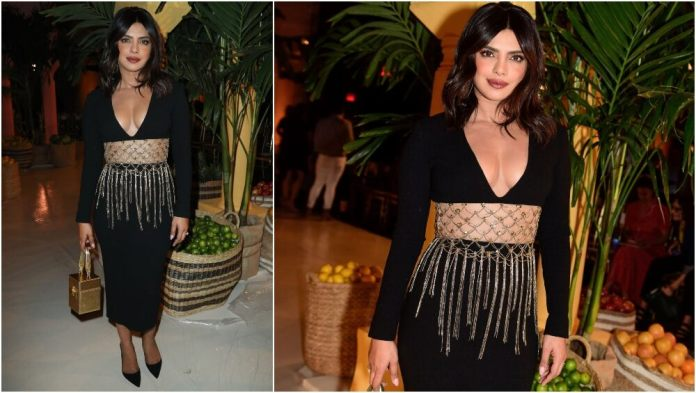 Busty Priyanka Chopra Sizzles In Oscar De La Renta At NYFW 1