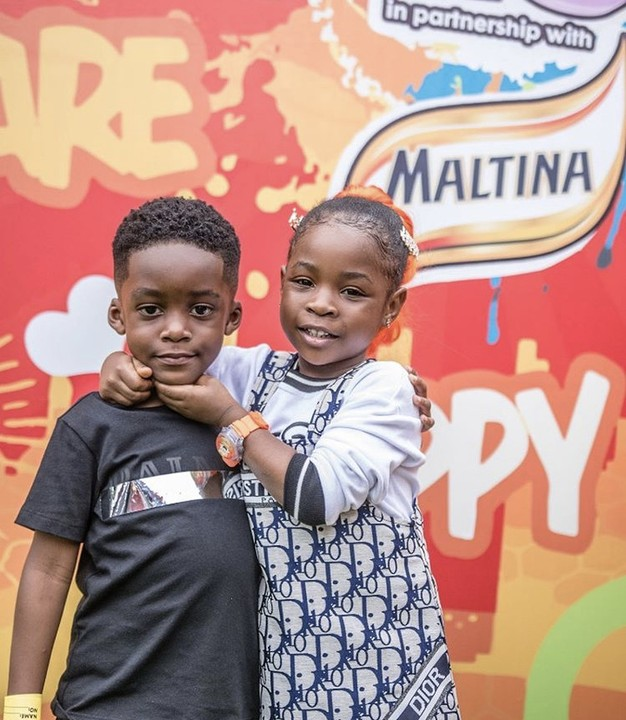 Cuties! Davido's Daughter, Imade Adeleke And Tiwa Savage's Son Jamil Are So Adorable 1