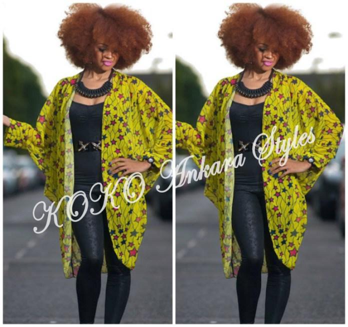 8 Stylish Ways To Rock An Ankara Kimono Jacket 9