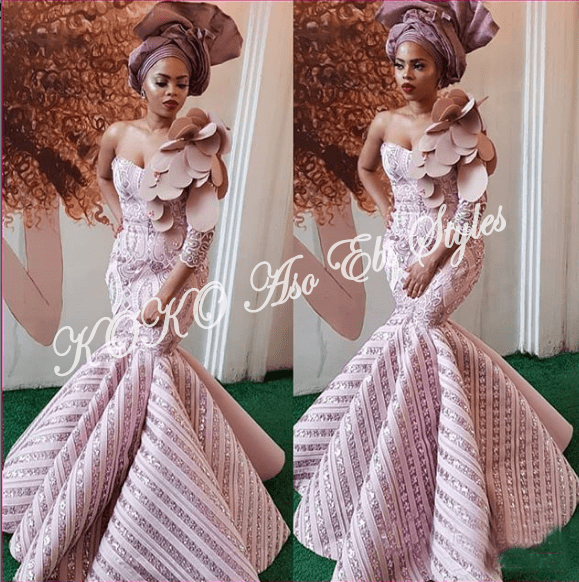 5 Celebrities That Gave Us Fab And Lit Aso-Ebi Style Over The Weekend 5