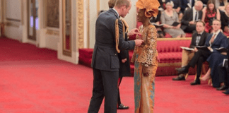 Naija To The World! Queen Elizabeth Confers OBE On Nigerian Woman