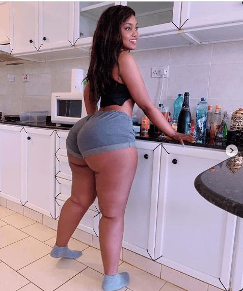 Endowed Tanzanian Model Sanchi Flaunts Massive Backside 1