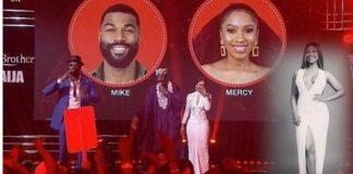 BBNaija: Tacha Congratulates Mercy, Says She Is Sincerely Happy For Her