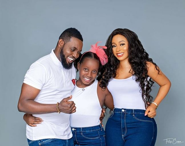 AY And Wife, Mabel Celebrates 11th Wedding Anniversary with Stunning Family Snap 2