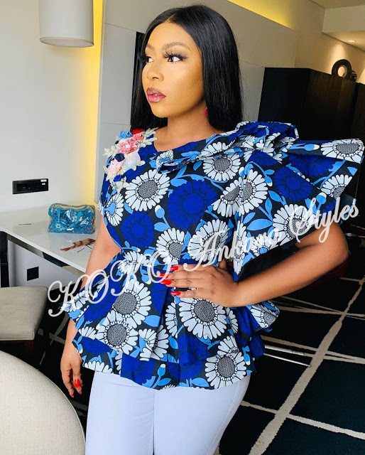Look Office Smart And Stylish In These 5 Stunning Ankara Tops 2
