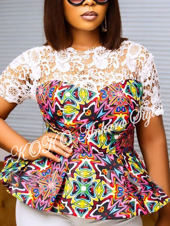 Look Office Smart And Stylish In These 5 Stunning Ankara Tops 5