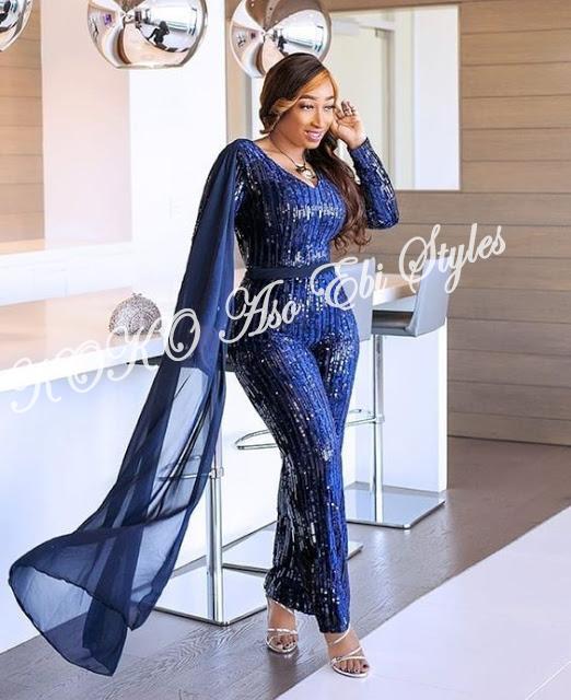 5 Stunningly Bespoke Blue Aso Ebi Lace Styles 1
