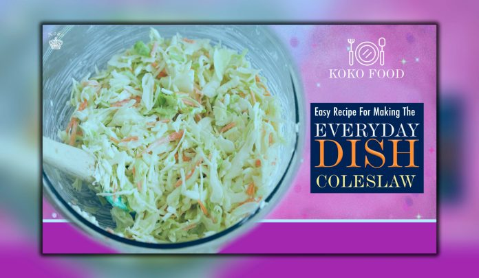 Food: Easy Recipe For Making The Side-Dish Coleslaw 2