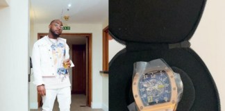 OBO! Davido Acquires And Flaunts N55m Richard Mille Watch