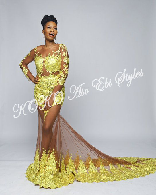 Be The Celebrity Of The Day! Slay In These Stars' Aso Ebi Inspiration From TFAA2019 4