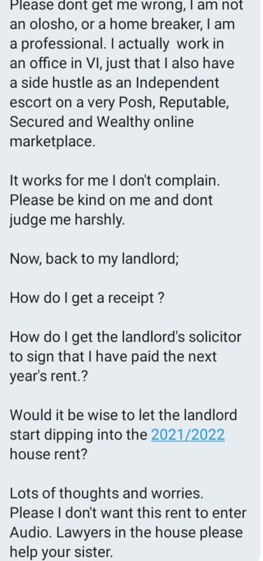 Lekki Slay Queen Wants Receipt For Sleeping With Her Landlord To Settle Her ₦1.3m Rent 3