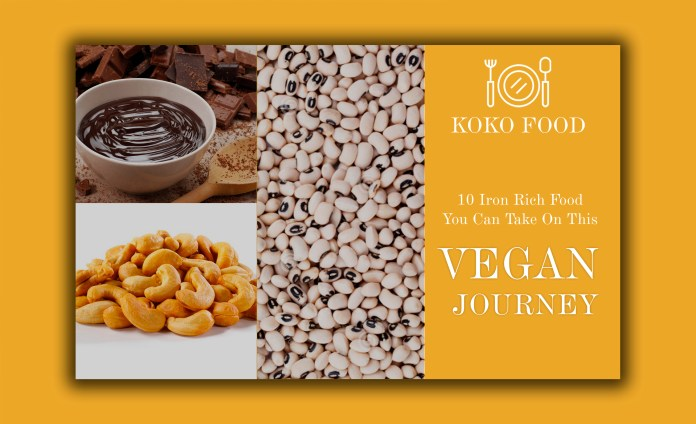 Food: 10 Iron Rich Food You Can Take On This Vegan Journey 1