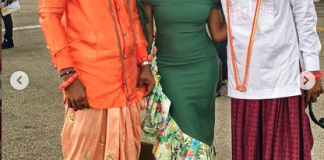 BBNaija Omoshola, Tuoyo And KimOprah Storm Olu Of Warri's Palace
