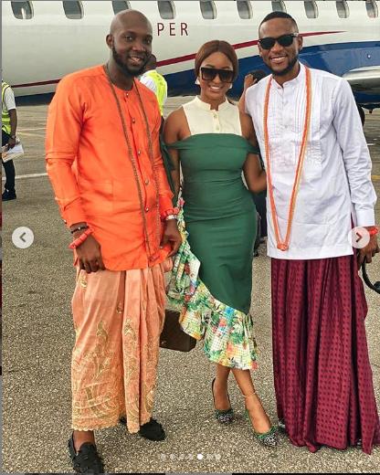 BBNaija Omoshola, Tuoyo And KimOprah Storm Olu Of Warri's Palace