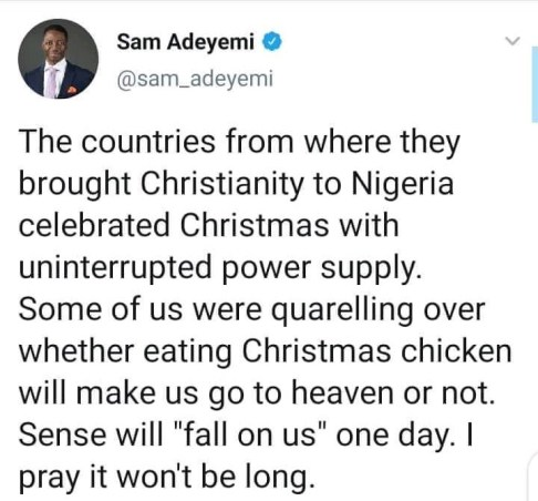 """""""Sense Will Fall On Us One Day"""", Pastor Sam Adeyemi On Whether To Celebrate Christmas"""