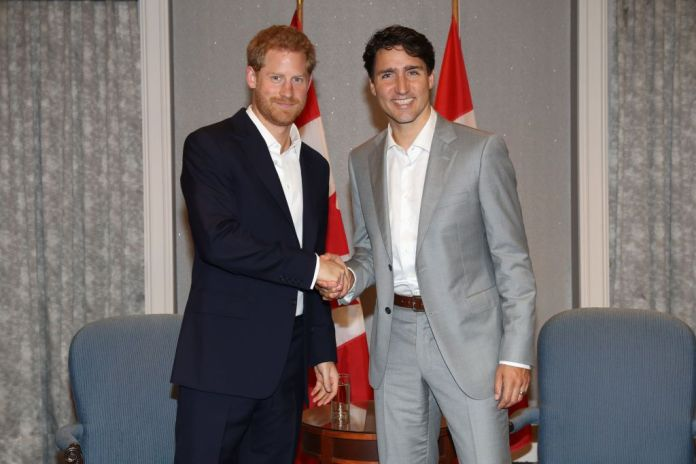 prince Harry and Justin Trudeau