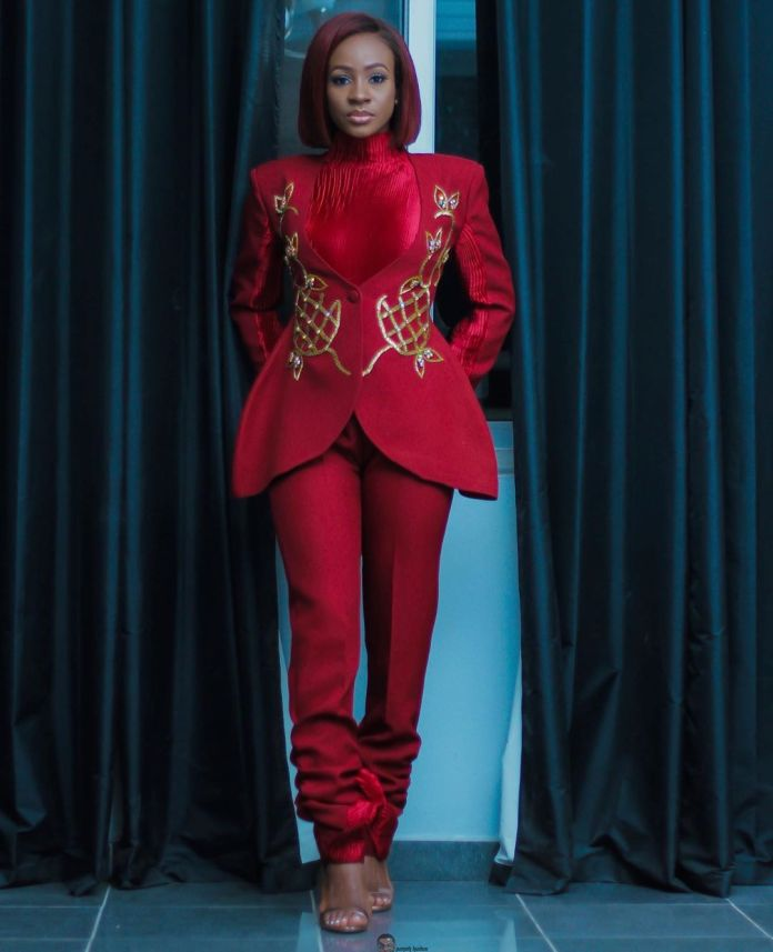 Anto Lecky Is A Beauty To Behold  In Red Outfit