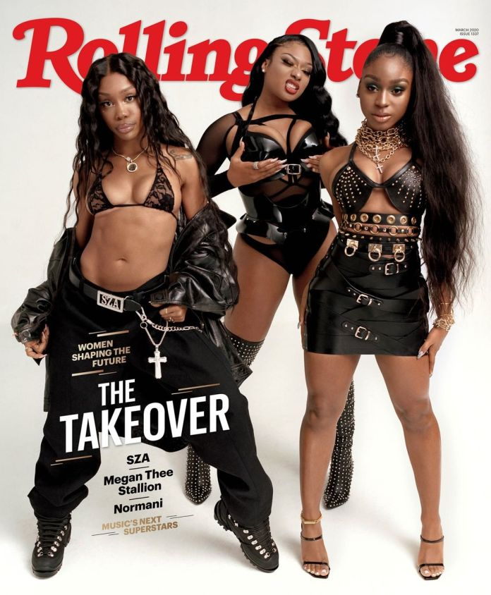 Girl Power!!! Megan The Stallion,SZA And Normani Cover The March Issue Of Rolling Stone Magazine