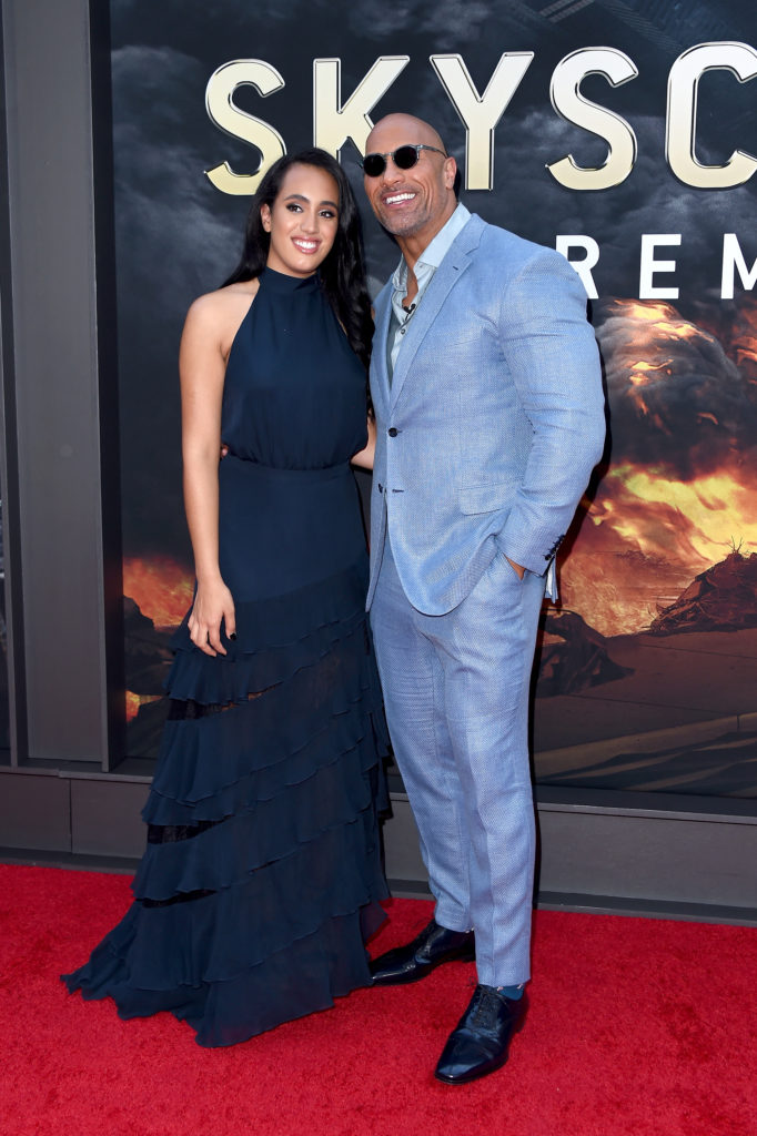 Simone Johnson and Dad Dwayne Johnson