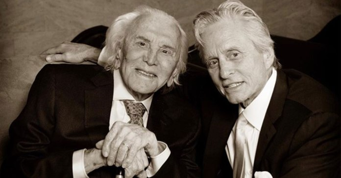 Kirk and Michael Douglas