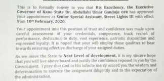 Kano Governor Appoints Special Adviser On Street Lights