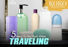 Travel tip: 5 Items you should not pack when traveling