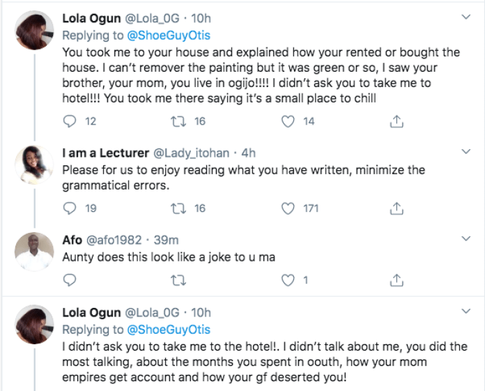 You Penised Me Without My Consent - Lola Calls Out Otis On Twitter For Coerced Sex
