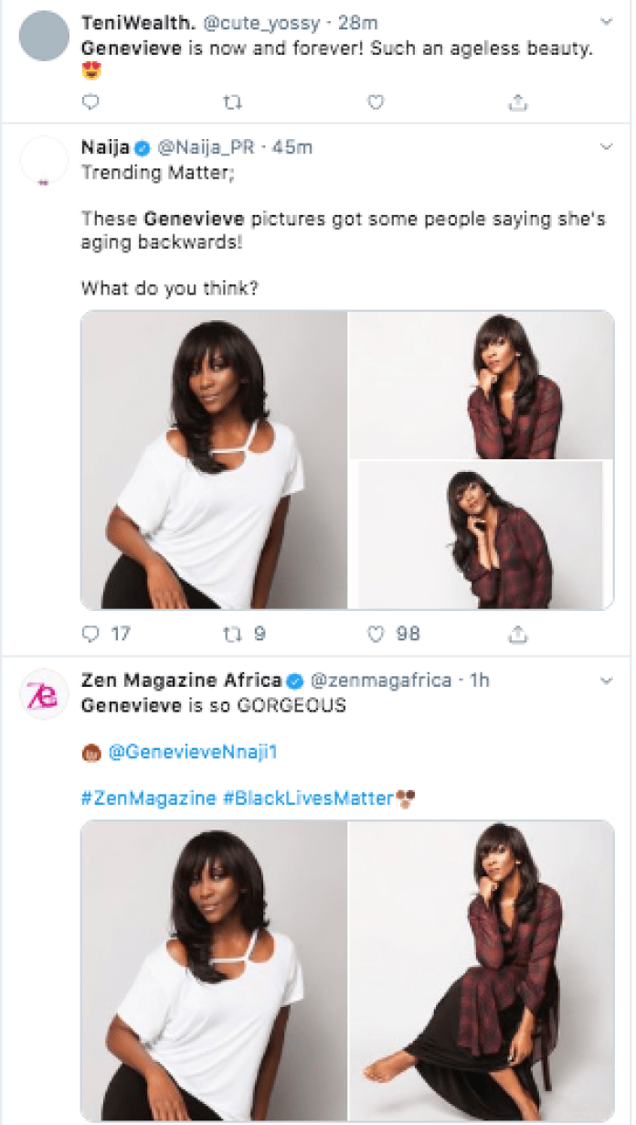 Genevieve Leaves Tweeps Wondering And Amazed At Her Agelessness