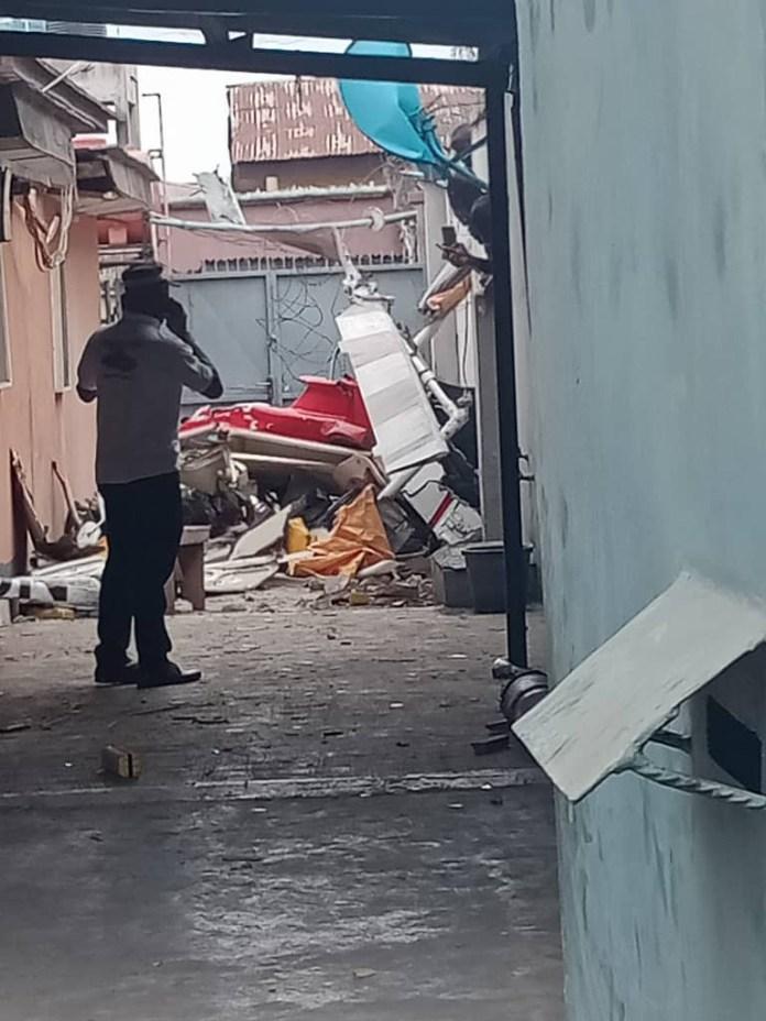 Helicopter Crash In Lagos Ikeja