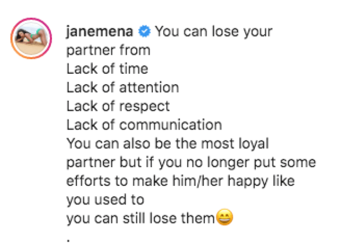 You Can Be The Most Loyal And Still Lose Him - Jane Mena