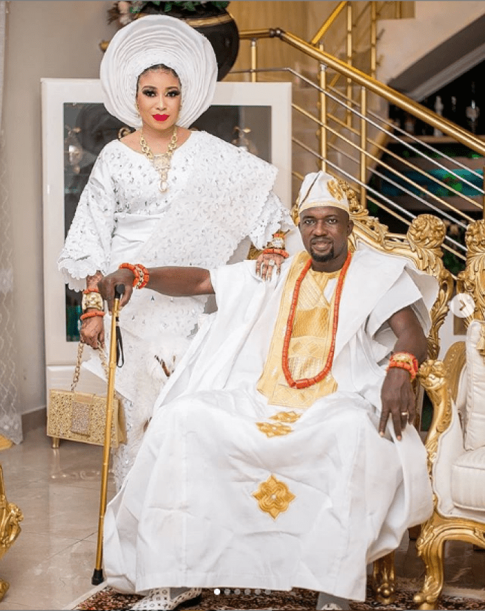 Lizzy Anjorin and hubby Lawal Lateef