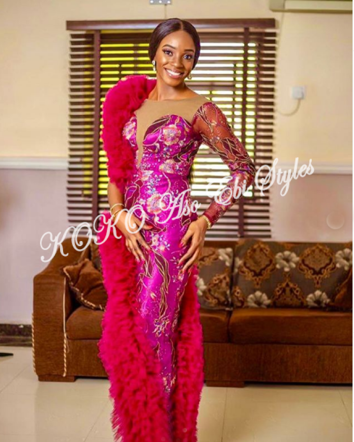 Glam Up And Slay In These Beautiful Aso Ebi Styles