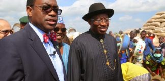 Akinwunmi Adesina and Goodluck Jonathan