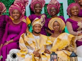 PHOTOS From Lawrence Oyor And Darasimi Mike- Bamiloye's Traditional Wedding