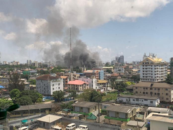 Florence Ajimobi's Supermarket Grandex gutted in Fire