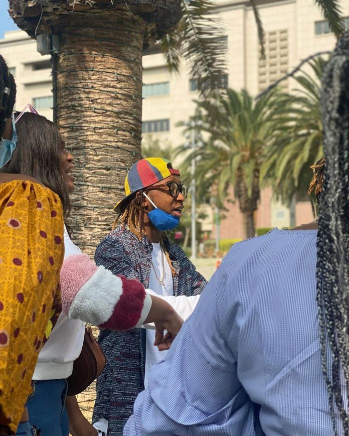Yung6ix leads EndSARS protests in Los Angeles