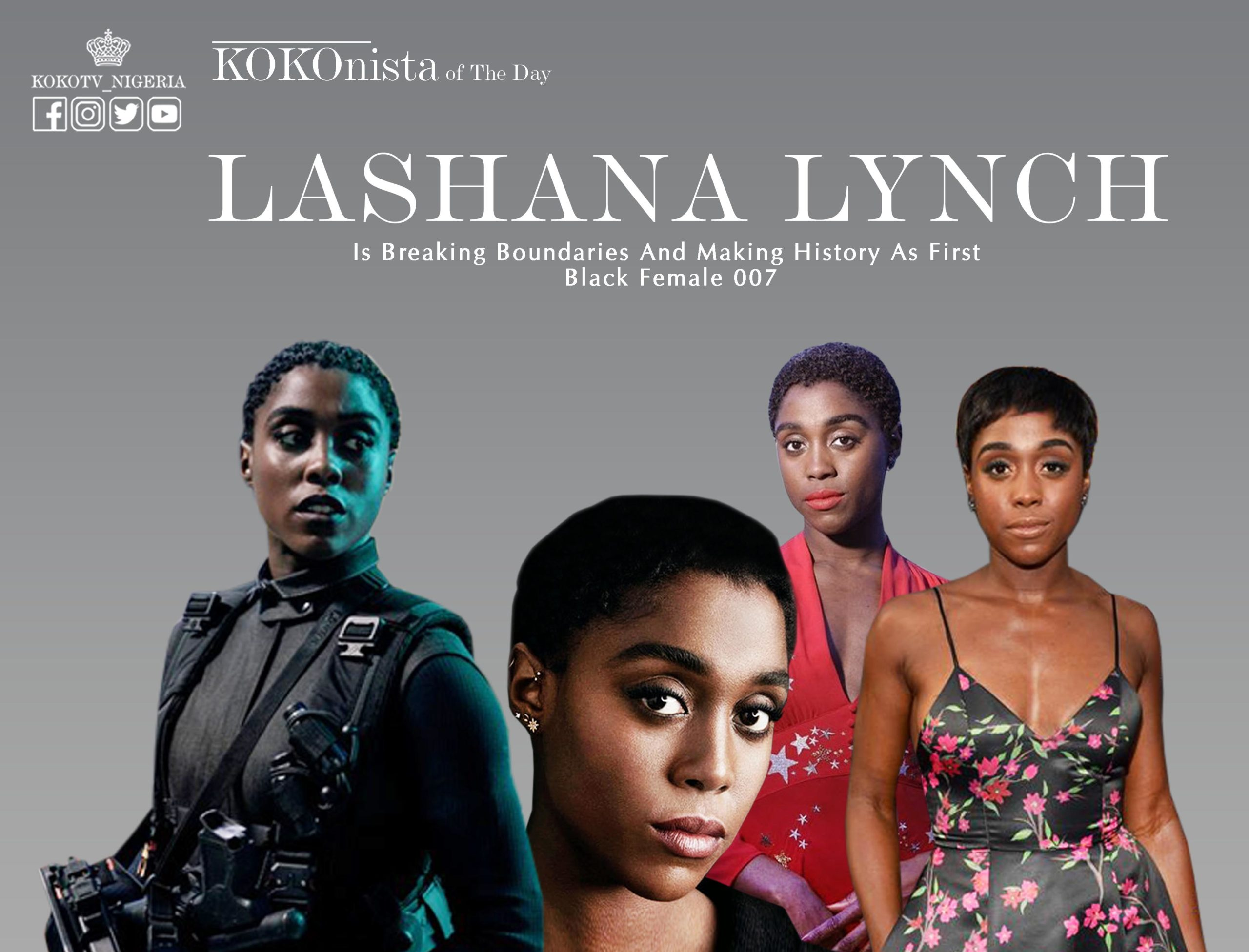KOKOnista Of The Day: Lashana Lynch Is Breaking Boundaries And Making History As First Black Female 007