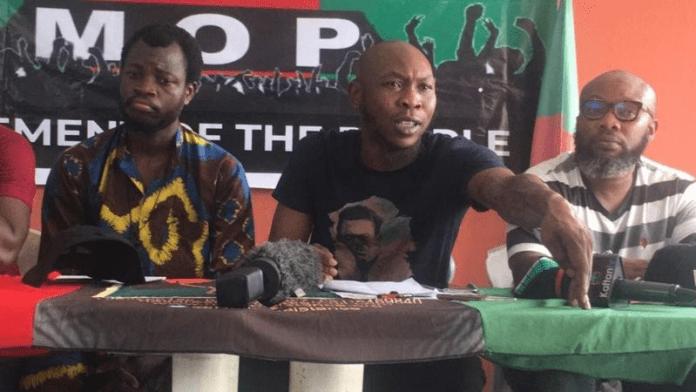 Seun kuti Movement of the People MOP party