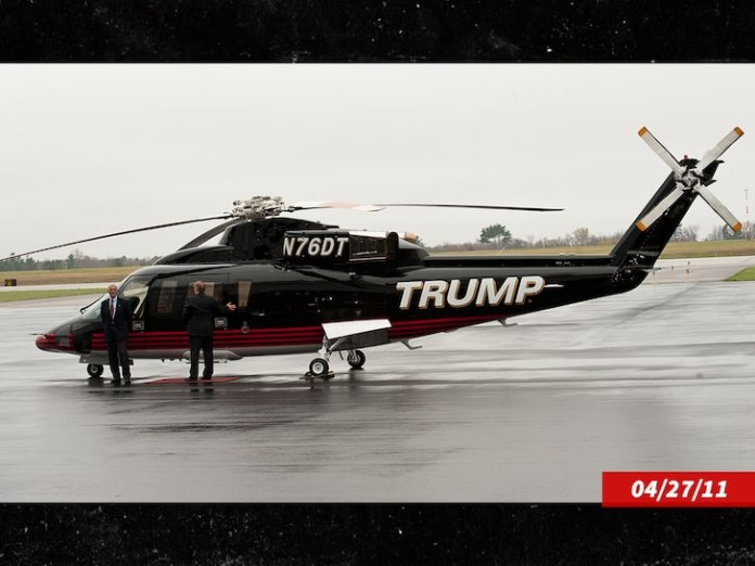 Donald Trump Puts Up His Personal Helicopter For Sale