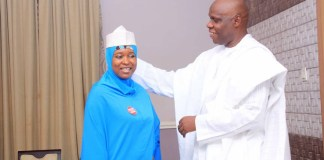 Aisha Yesufu and hubby, Aliu