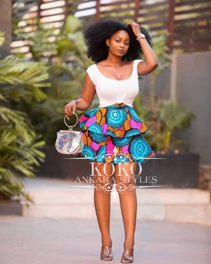 Ankara Short skirt