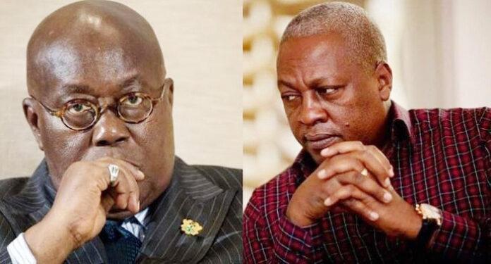 Nana Akufo-Addo and John Mahama Ghanaian Election
