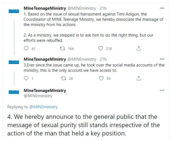 I Am Deeply Sorry - Pastor Timi Adigun Apologises For Raping And Assaulting Teenagers