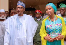 Buhari and Hadiza Bala Usman