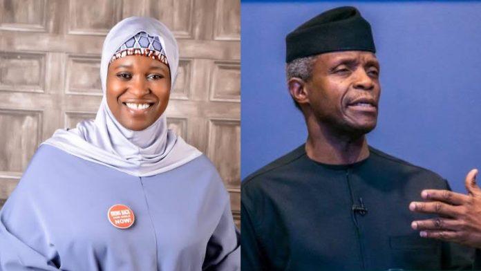 Aisha Yesufu and Osinbajo